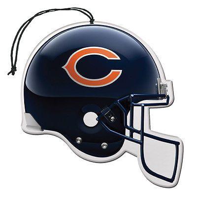 Chicago Bears Helmet Air Freshener Nu-Car Scent 3 Pack Car Truck NFL NEW!!!