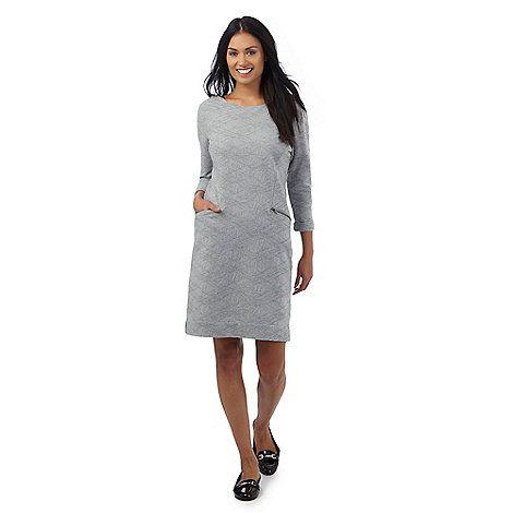 RJR.John Rocha Grey textured jersey dress | Debenhams