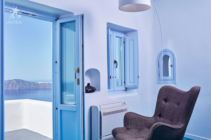 Your reading corner at Astra Suites awaits you at the Senior Suite! #Santorini #suite #luxury