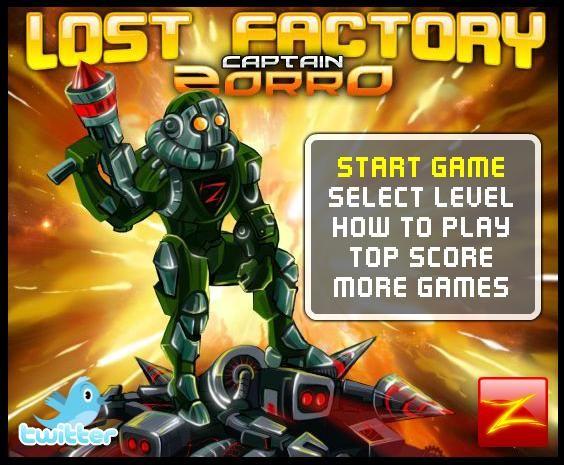 Captain Zorro: Lost Factory online spielen | Roboter Spiele