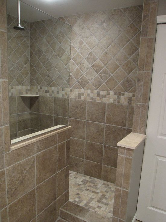 Doorless shower design inspiritoo bathroom walk in for Walk in shower plans and specs