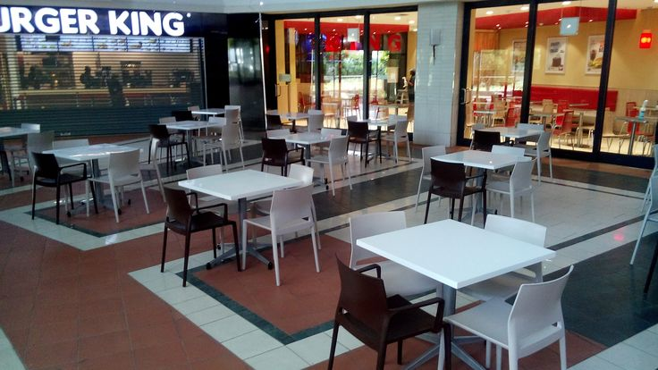 New Installation by SW Contracts Cape Town - Hyprop - Somerset Mall Bakhita Chair paired with Classic Twist Tables SW Contracts 011 262 3521 info@swcontracts.co.za www.swcontracts.co.za