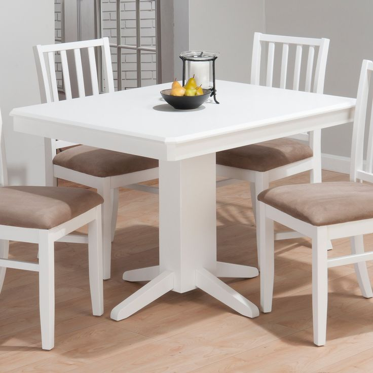 Great Jofran Inc.  Jofran Aspen Rectangle Pedestal Dining Table In White