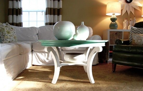 Two tone painted mdf coffee table colors are nice any for Other uses for a coffee table