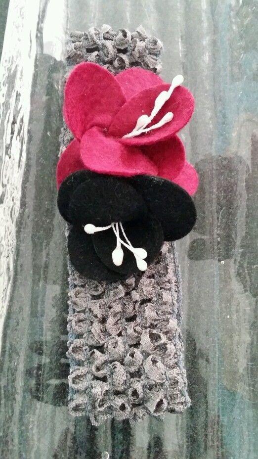 Girls felt flower headband, bow, hair accessories in Hair Accessories   eBay
