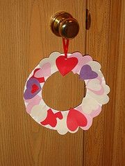 Valentines wreath kids craft