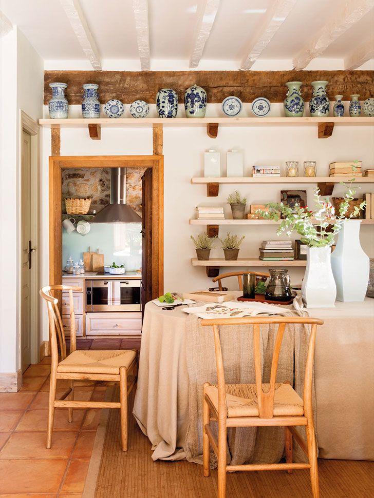 Уютные кухоньки деревенских домов фото