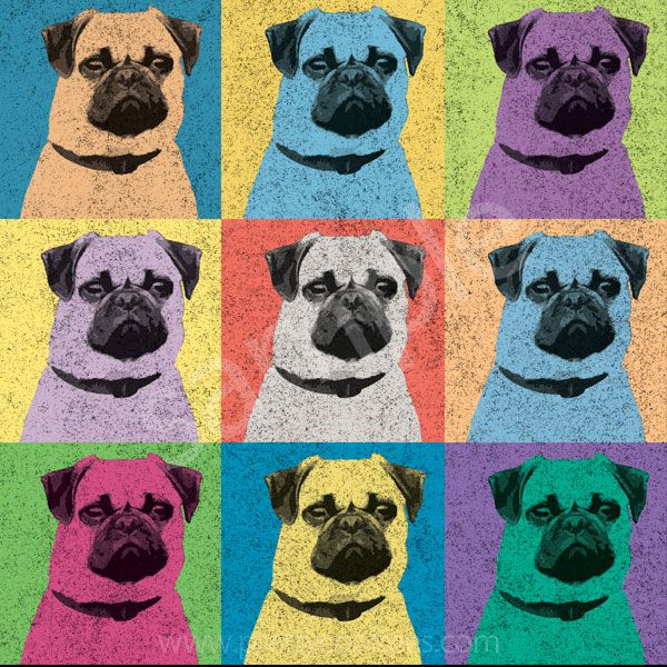Pug dog Pop-Art Shirt