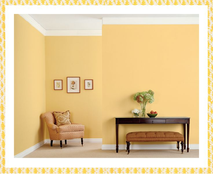 1000 images about yellow rooms on pinterest warm shangri la and corn stalks for Behr paint colors interior yellow