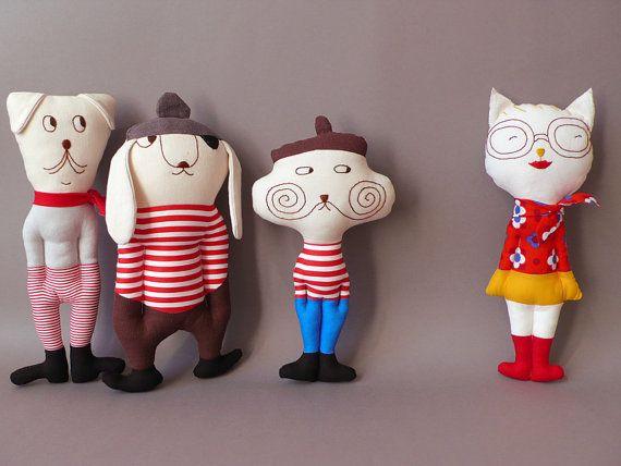 Minette  Cat Plush Toy stuffed Doll Plushie Softie by jipijipi, €28.00