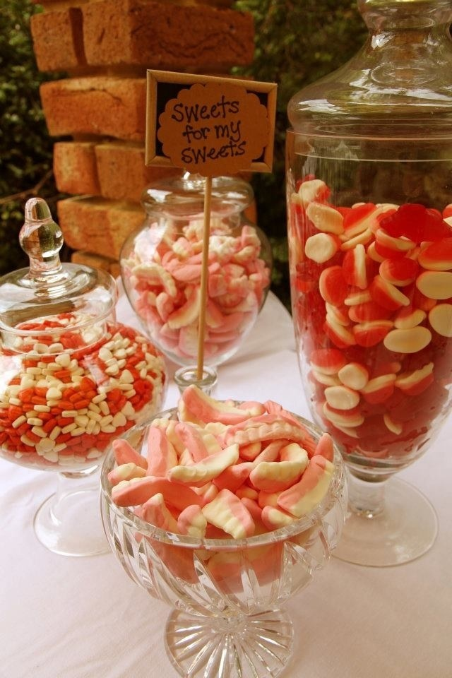 Various shape and size lolly jars