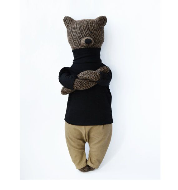 Evan The Bear. Primitive teddy Bear by PhilomenaKloss on Etsy