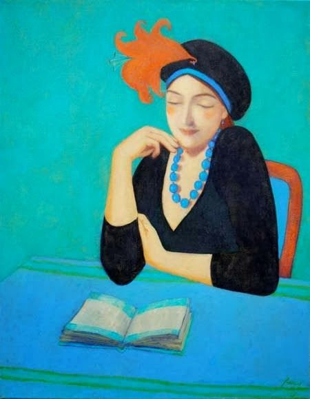 Artista: Elisabeth Jonkers (1966) The glamour of reading.