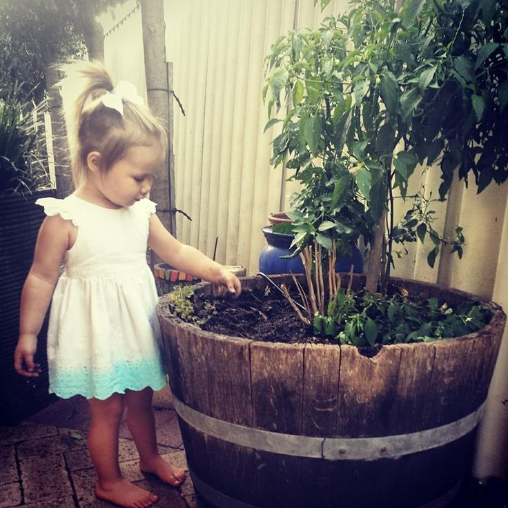 Our Little Letti Model LOVES Playing in the Dirt! Iris dress available at www.letti.com.au Perfect Christmas Present for the Little Ladies in your life!