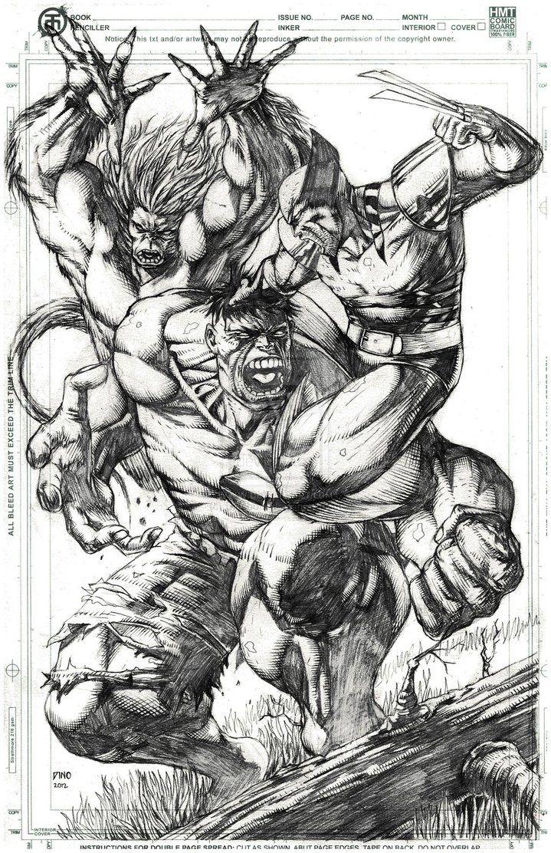 wolverine versus hulk | Wendigo vs Hulk vs Wolverine by Dinobots
