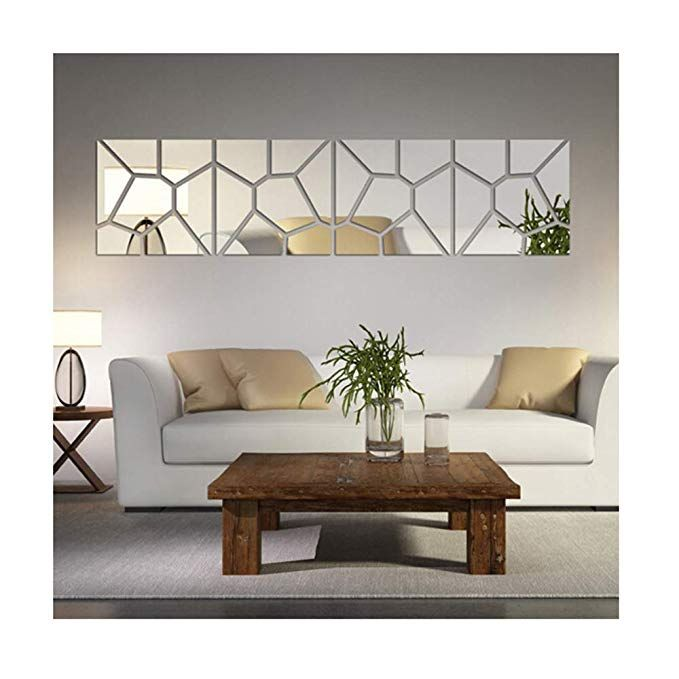 Multi Pieces 4 Squares Modern Design Diy Mirror Effect Wall