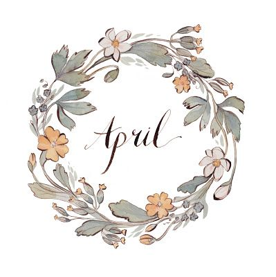 The Month of April   Watercolor by Kelsey Garrity-Riley Illustration