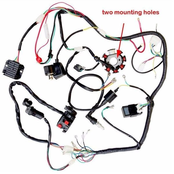 125 150 200 250cc Quad Electric Cdi Coil Wire Harness Stator Assembly Wiring Set Wish In 2020 250cc Atv Quads 250cc Atv