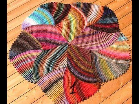 Вязаные круглые коврики