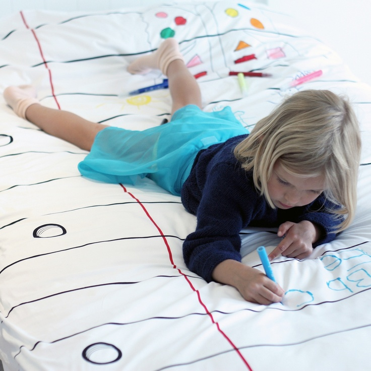 Doodle by Stitch-  let your kids draw on their duvet, no worries it's washable!