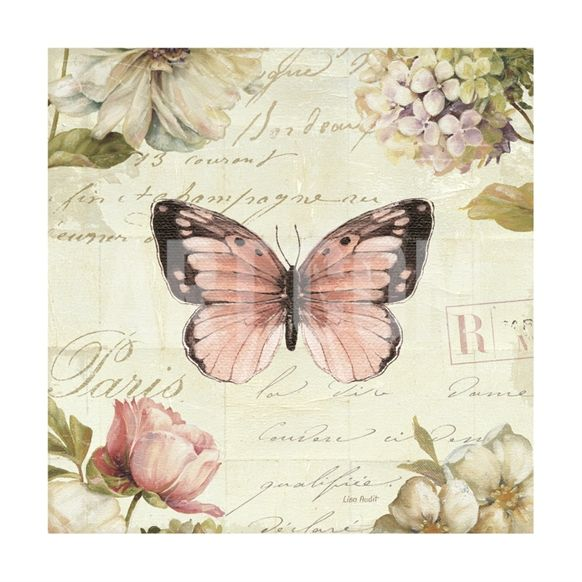 Marche de Fleurs Butterfly I Giclee Print by Lisa Audit at Art.com