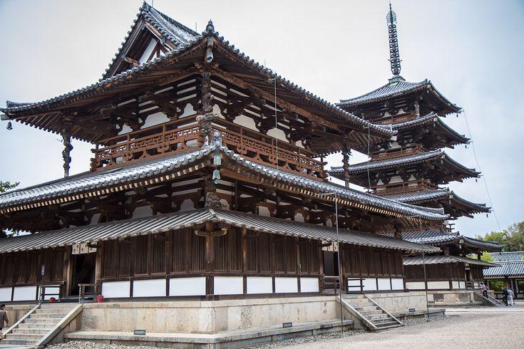 horyuji, japan, world's oldest wooden building, near nara, temple, history, world heritage, pagoda