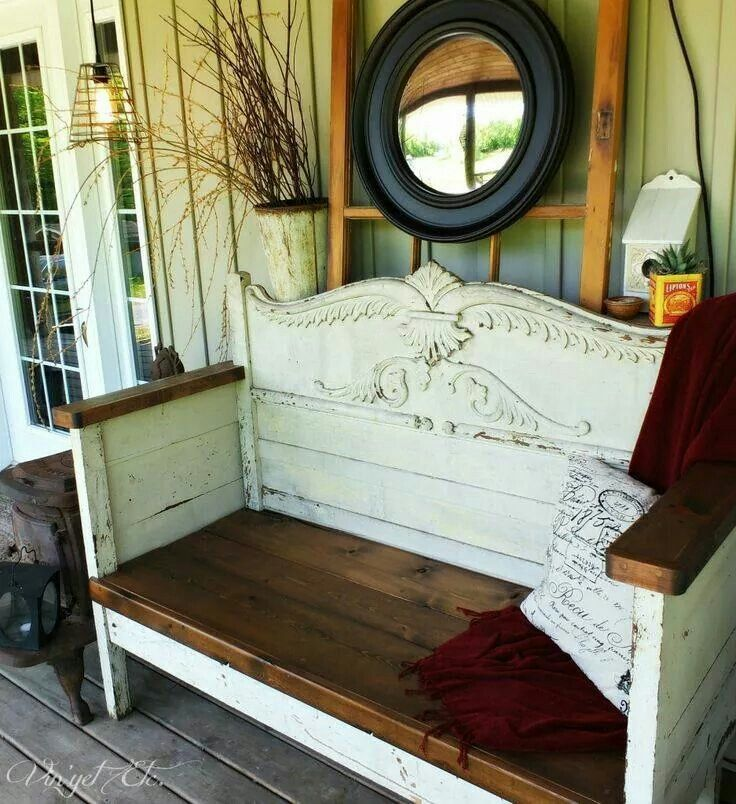 Antique Headboard Bench: 187 Best Bench Settee From A Bed Images On Pinterest