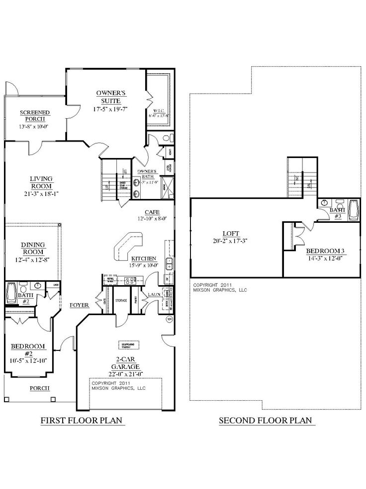 House plan 2755 woodbridge floor plan traditional 1 1 2 for 2 story house plans with loft