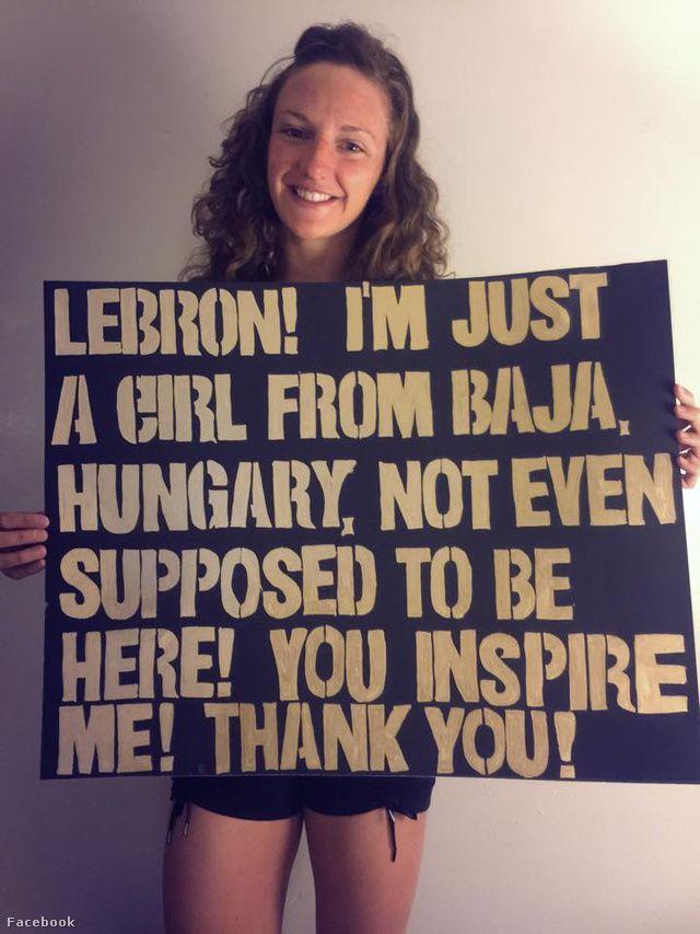 Sport Géza - Úszás - Hosszú Katinka az NBA-sztár LeBron Jamesnek üzent