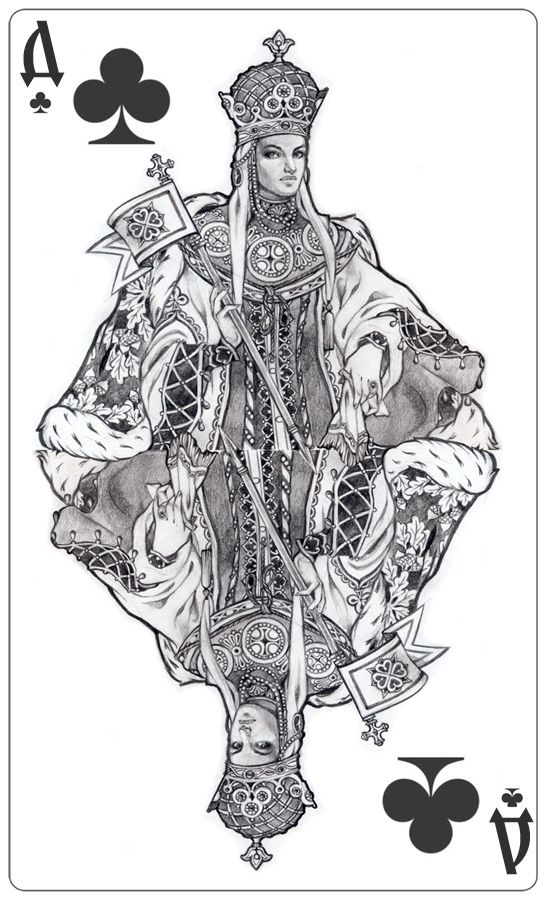 - Queen of Clubs - by Losenko.deviantart.com on @DeviantArt