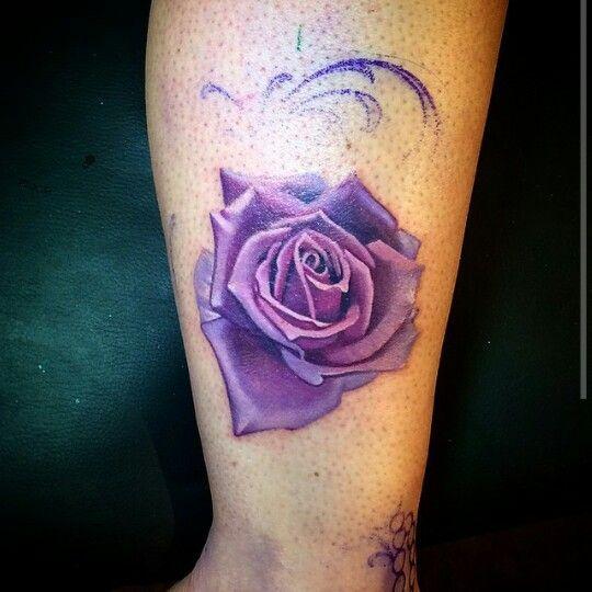 Purple Rose Tattoos On Pinterest Rose Tattoos Realistic Rose