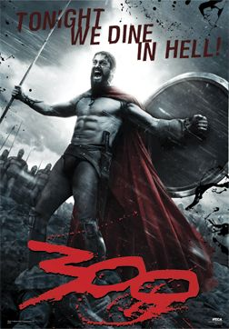 300 Movie Poster With Moving Sky Background As Gif Animation