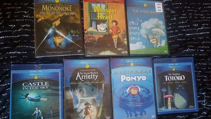 Studio Ghibli Disney DVD Blu Ray Movie Lot of 7 New Sealed Arrietty Ponyo Totoro