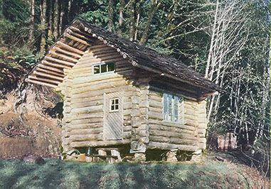 Here's how an Oregon couple combined love of the land, native materials, traditional hand tools, and hard work to build a log cabin for $100.