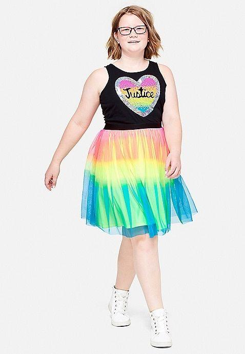 fa146983c Sequin Rainbow Tutu Dress | Justice | Justice | Dresses, Rainbow ...