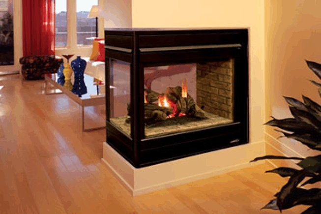 For the living room Convert our fireplace to a three-sided ...
