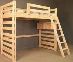 kaon loft bed with hanging storage crate