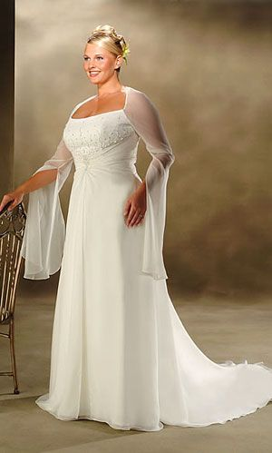 plus size wedding dress- don't see many with sleeves...