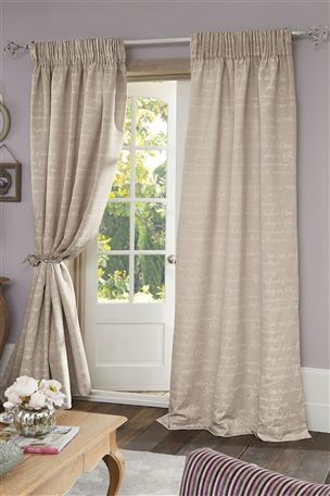 Buy Poetry Jacquard Pencil Pleat Curtains from the Next UK online shop