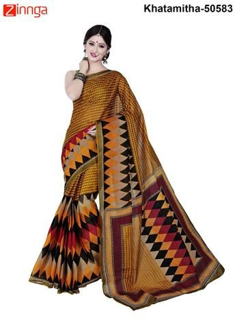 Women's Beautiful  Multi Color Cotton Saree -Khatamitha #Sarees #Saris #Fashion #Look #Popular #Offers #Deals #Fashionable #Zinnga #zinngafashion #Deal #Look #Picoftheday #Photooftheday #womens