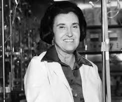 Rosalyn Sussman Yalow, Nueva York, 1924. Física estadounidense. Tras conseguir su doctorado en Ciencias Físicas en 1949, trabajó con el profesor Solomon Berson. Sus investigaciones sobre física nuclear le permitieron entrar en el Servicio de Medicina Nuclear del Hospital de Veteranos del Bronx; se convirtió en jefa de dicho servicio en el año 1970.En 1977 le fue concedido el premio Nobel de Medicina por sus investigaciones en las hormonas peptídicas.
