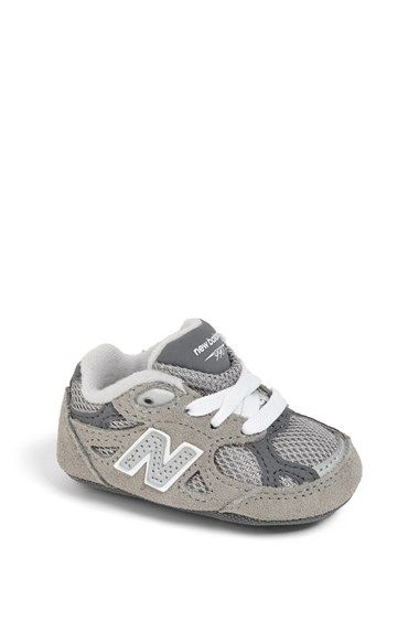 grey new balance 990 velcro infant
