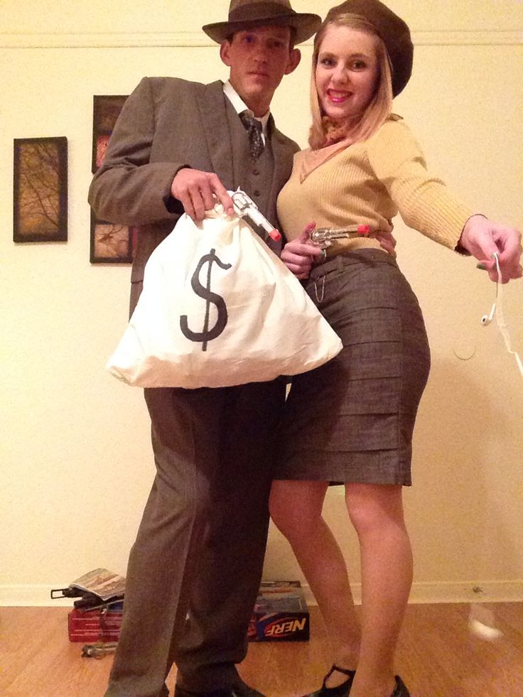 Bonnie and Clyde Halloween costume.