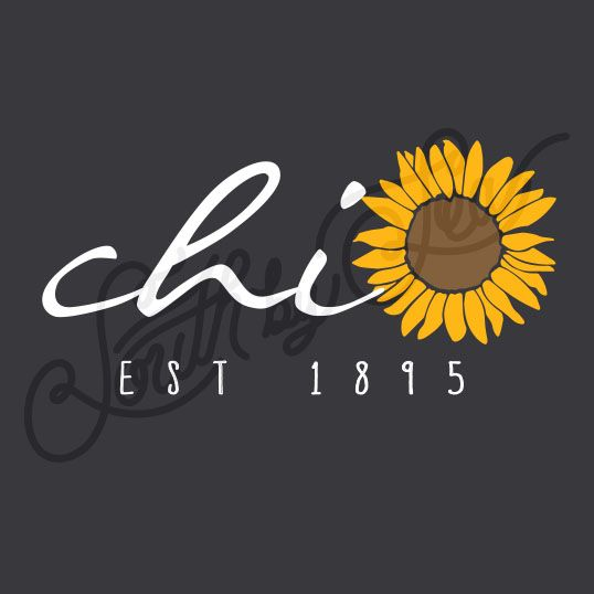 Sorority Social Chi Omega Sunflower South By Sea