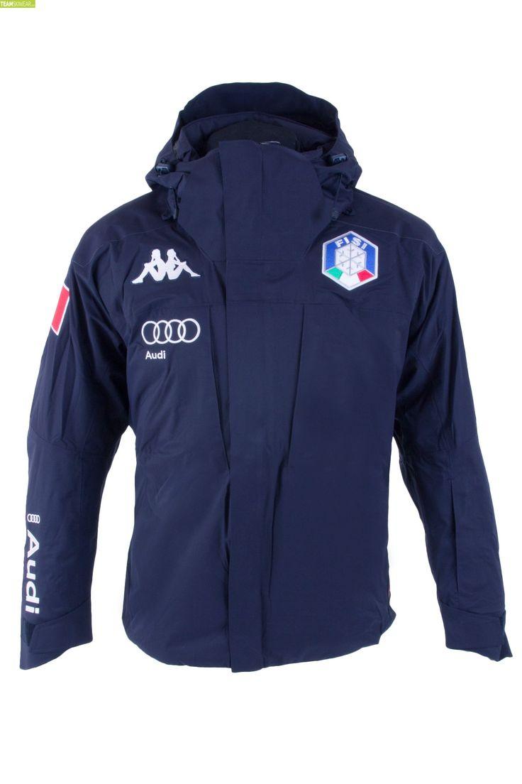 Kappa Men Italian Alpine Team FISI Jacket - Blue Night Silver