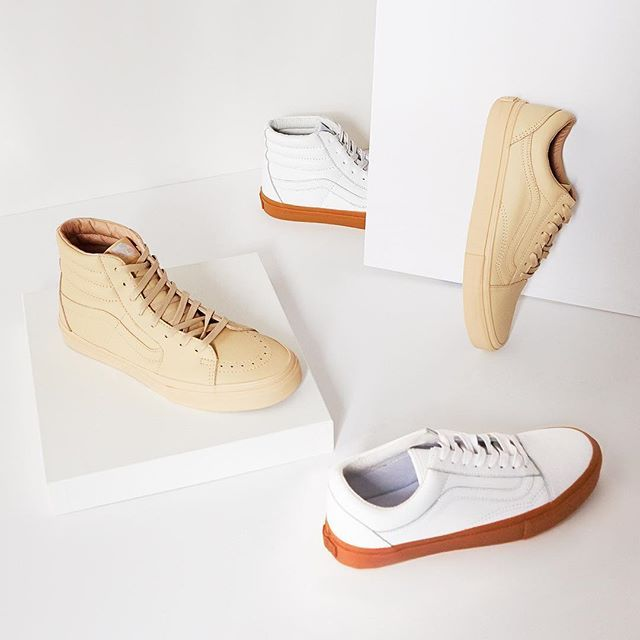 #OpeningCeremony & @Vans tag team once again w/ a revamp to collectable classics like the Old Skool & Sk-8-Hi in timeless tonal beige & stark white leather—Shop 'em now in our bio link