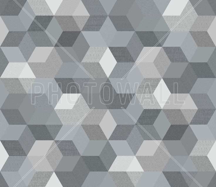 Polygon Graphite - Wall Mural & Photo Wallpaper - Photowall