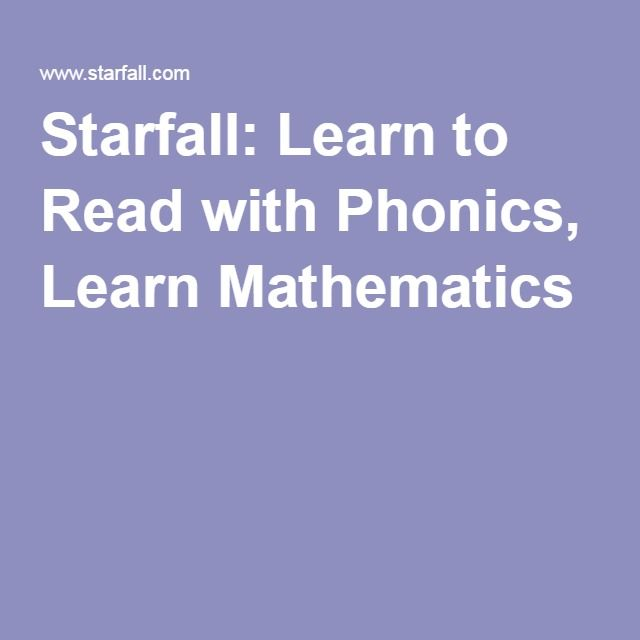 Starfall: Learn to Read with Phonics, Learn Mathematics