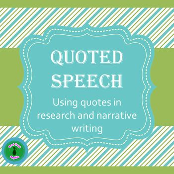 Explanation and practice for how to use quotations in research and narrative dialogue. Topics include the importance of using exact quotes, attributions for formal and narrative quotes, incorporating partial quotes into the text, and punctuation rules for quotations. Includes editable PPT, handout, task cards, and expansion activities.