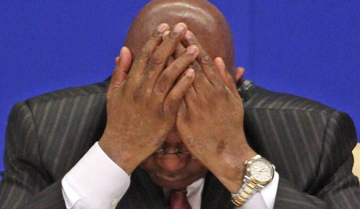 Photo: South Africa's President Jacob Zuma reacts during the opening ceremony of the 10th Boao Forum for Asian Annual Conference in Boao town, Hainan province, April 15, 2011. REUTERS/Jason Lee